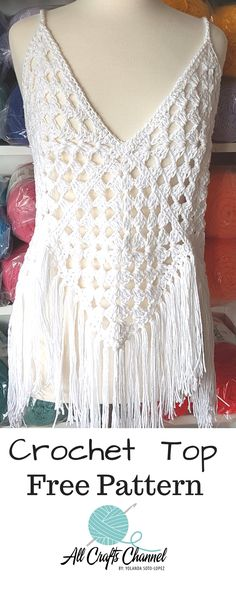 Enjoy this beautiful crochet top. It's so easy to crochet. Full written, photo and video tutorial.