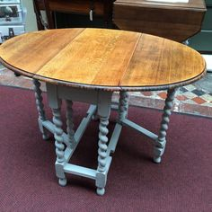 Oak Dining Table, Dining Room, Dining Table Makeover, Painted Oak Table,  Painted Furniture, Legs, Kitchen Collection, Gate, Furniture Projects