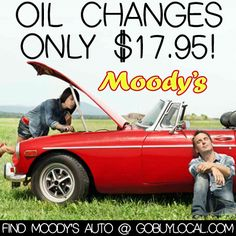 Get the $17.95 oil change all day, every day at #Moodys Auto! #autocare http://www.gobuylocal.com/offerseo/River_Falls-WI/Moody%27s_Automotive/2353/538/