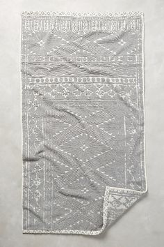 Stone Carvings Towel Collection.  Pretty, but they don't absorb water, per a reviewer on anthropologie.com