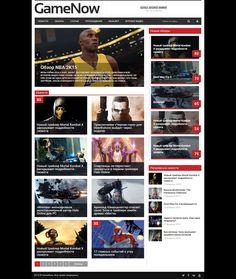 GameNow для DLE #templates #website #шаблон #сайт #web