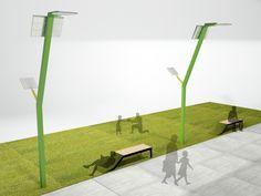 """Mobiliario urbano para Parque """"La Hoja"""" on Behance"""