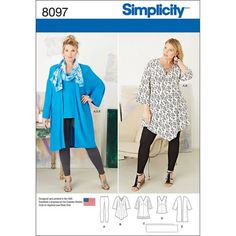 Plus Size Sewing Patterns Womens Plus Size Evening Dress Burda Sewing Pattern 6487 Sew Essential. Plus Size Sewing Patterns Simplicity Patterns Plus Sizes Joann. Tunic Sewing Patterns, Plus Size Sewing Patterns, Tunic Pattern, Simplicity Sewing Patterns, Clothing Patterns, Dress Patterns, Pattern Sewing, Coat Patterns, Pattern Drafting