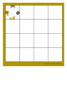 Board for the puzzle. Find the belonging tiles on Autismespektrum on Pinterest. By Autismespektrum