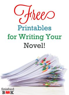 Are you interested in writing a novel but you don't want to start? Do you learn by doing? Do you want easy-to-use worksheets to help novel writing made sense? I've pulled together a ton of FREE printables for you.
