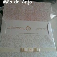 Convite, by Mão de Anjo. #convitemaodeanjo #maodeanjo #convitecasamento