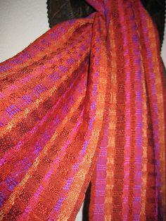 Handwoven Silk Scarf, Accessories Woven by Tisserande