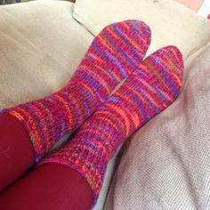 Toe up sokken losjes afkanten