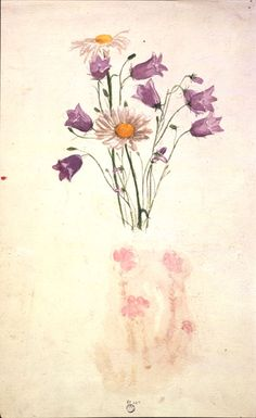 Study of Harebells and Marguerites by Beatrix Potter, 1880 l Victoria and Albert Museum #art #illustration