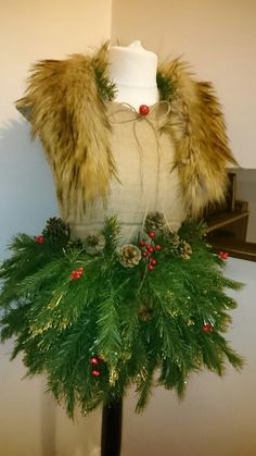 Made my own Christmas mannequin! ❤unique,,,upcycled!,,,shabbychic,,,vintage,,,Christmas!