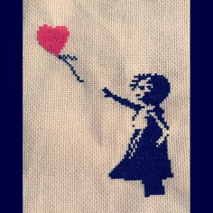 Bansky cross stitch