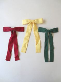 5b6f22a46842 Set of 3 Western Bow Ties, Honky Tonk, Rockabilly, Texas Colonel Sanders Tie,  Yellow Green Maroon, 50s Long Bowtie, Jackpot Jen Vintage