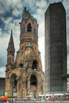One of the coolest historical places I have ever been to. (Memorial Church, Berlin)