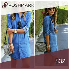 Denim trendy Denim Two pockets a bit smaller than it shows on picture Light jean Old Navy Dresses
