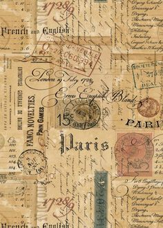Printable Ephemera Parisian Script, Signage, Vintage Stamps & Correspondance - ATC Digital Collage Sheet for Papercraft- pdf - jpg - png - Best Picture For diy surgical mask free pattern For Your Taste You are looking for something, and - Papel Vintage, Vintage Stamps, Vintage Labels, Vintage Ephemera, Vintage Prints, Vintage Paper Crafts, Etsy Vintage, Scrapbooking Vintage, Planner Bullet Journal