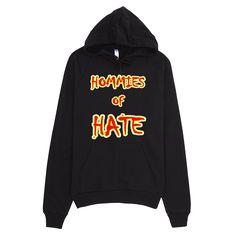 1672-H ... U.S.A ... Area Code 911 ... HOMMIES OF HATE ... HOODIE