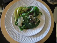 Spinach, Pear and Shaved Parmesan Salad