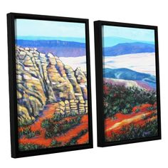 ArtWall Gene Foust 'Rocky Mountain Living' 2 Piece Floater Framed Canvas Set