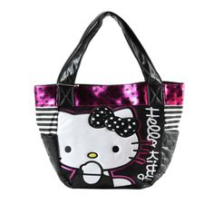 Hello Kitty Sequined Black Dot Shoulder Bag - Hello Kitty Shoulder Bag Hello Kitty Bag, Black Dots, Cosmetic Bag, Fashion Bags, Reusable Tote Bags, Shoulder Bag, Wallet, Fashion Handbags, Shoulder Bags