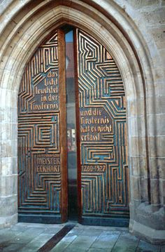 Church doors with Memorial for Meister Eckhart Weimar and Erfurt, Germany