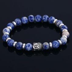 Nouveau Pierre Naturelle perle Bouddha Bracelets