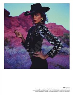 Daria Werbowy by Inez and Vinoodh  Vogue Paris February 2012 Vogue Paris, Daria Werbowy, Cowgirl Chic, Cowgirl Style, Western Style, Cowgirl Fashion, Country Style, Westerns, Gypsy Style