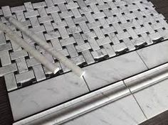image result for basket weave marble tile floor