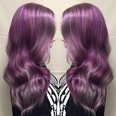 #VioletHair done by our Technical Educator Mirella Hullum.  Foundation- #KenraColor 8SM / 10SM & Violet Booster Anchor- 2oz #KenraColorCreative White + 1oz Violet Creative Accent 1- Violet Creative Accent 2- Magenta Creative
