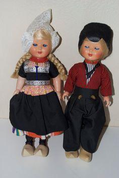 Vintage Dutch Doll Pair Couple 15 by MissBargainHuntress on Etsy