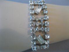 1950s Vintage Glam Rhinestone Bracelet  by LadyScarlettsVintage