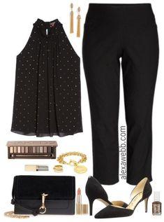 Plus Size Dressy with Pants Outfit - Plus Size Fashion for Women - alexawebb.com #alexawebb #plussize #womenoutfits
