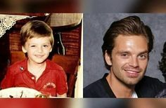 Oh my god baby Seb had that half smile too- how cute is that!♡ Seb looks like Jake Johnson as Nick Miller from New Girl here!!