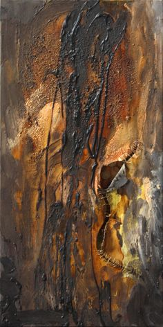 """Secret"", 30x60cm, 2012. Acryl, resin on canvas. Author: Anna Korpyta,  http://korpyta.com  #abstract #abstractpainting #annakorpyta #korpyta"
