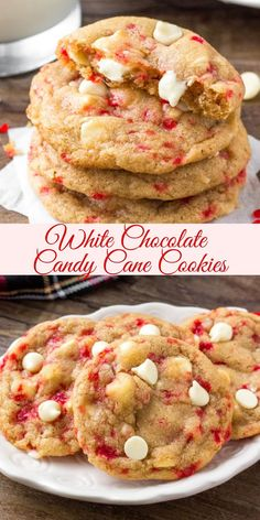 Candy Cane Cookies, Xmas Cookies, Chocolate Chip Cookies, Yummy Cookies, Candy Canes, Easy Christmas Cookies, Best Holiday Cookies, Candy Recipes, Holiday Recipes