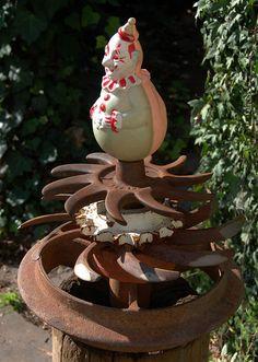 cute?  or spooky!  #garden #junk