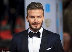 David Beckham was in London to present an award at the British Film Academy Film Awards
