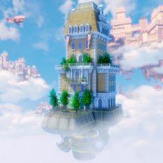 Bioshock Infinite Building, David Jones on ArtStation at https://www.artstation.com/artwork/bioshock-infinite-building
