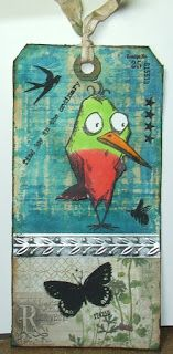 This Life: 12 Tags of 2015-June using a bird crazy stamp