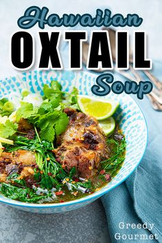 Hawaiian Oxtail Soup - An Oxtail Recipe With A Twist Hawaiian Oxtail Soup Recipe, Best Soup Recipes, Curry Recipes, Gourmet Recipes, Oxtail Recipes, Slow Cooker Recipes, Cooking With Ginger