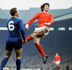 George Best during one of his 361 appearances for Manchester United (1963-74).