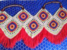 Crochet ,tassel,vest,red,Green ,blue,bohem,yelek,püskül,kırmızı