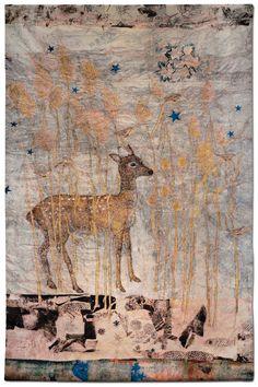 """Kiki Smith, """"Fortune,"""" 2014 Jacquard tapestry, 108 ̋ × 72 ̋ ..."""