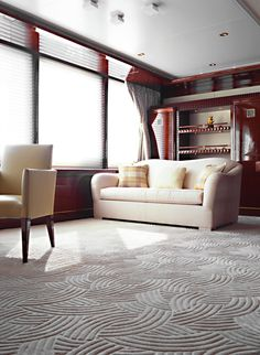 A hand carved Tai Ping rug on a #luxury yacht