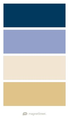 Navy, Periwinkle, Champagne, and Gold Wedding Color Palette - custom color palette created at MagnetStreet.com