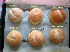 If you are an aspiring home baker, this post on how different glazes affect the crust is really worth reading.