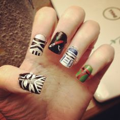 starwars nails. done by me :D