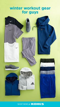 27dca84f02643 Heat up your routine with men's winter workout clothing at Kohl's. This  season's must-