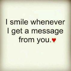 Imagem de love, smile, and message