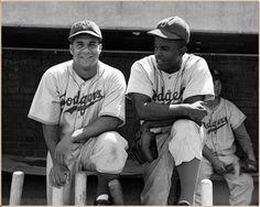 Roy Campanella & Jackie Robinson, BROOKLYN DODGERS