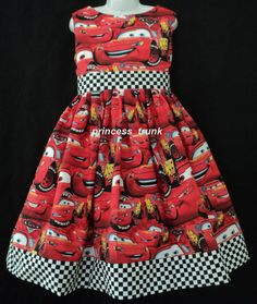adorable cars dress for Disney!